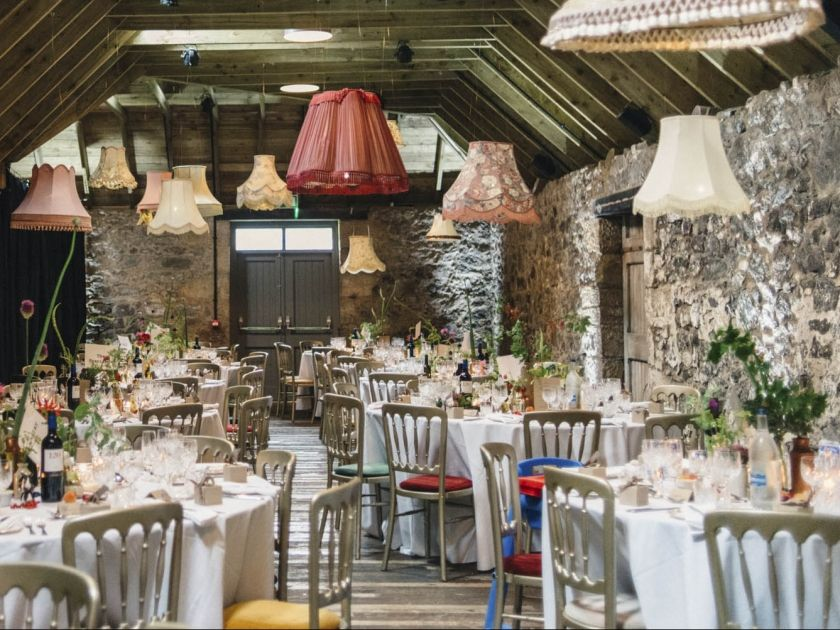 The Byre at Inchyra  Perthshire Scotland event  wedding barn  weddings barn scotland  dinner